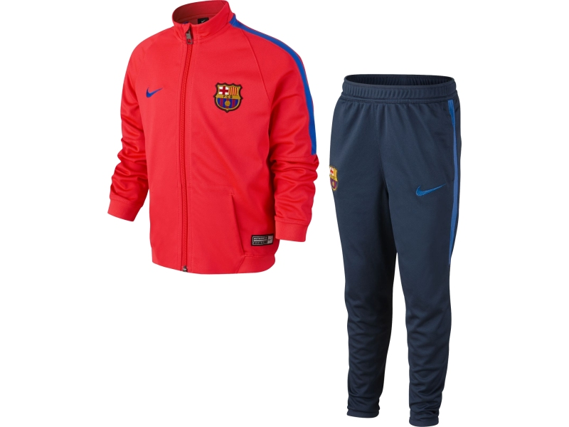 fc barcelona nike kinder trainingsanzug 16 17. Black Bedroom Furniture Sets. Home Design Ideas